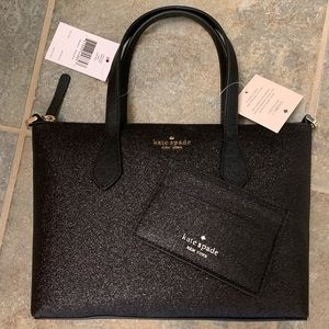 KATE SPADE JOELEY BLACK SATCHEL BAG CARD HOLDER